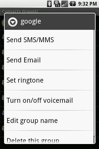 Contacts GroupU (Free) - screenshot