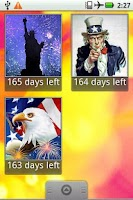 Screenshot of Countdown to July 4th