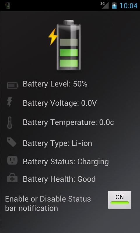 Battery Info - screenshot
