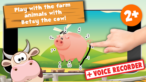 Connect the dots farm animals