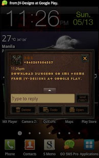 Diablo Dungeon Go SMS Theme - screenshot thumbnail