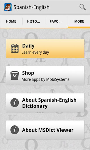 SpanishEnglish Dictionary