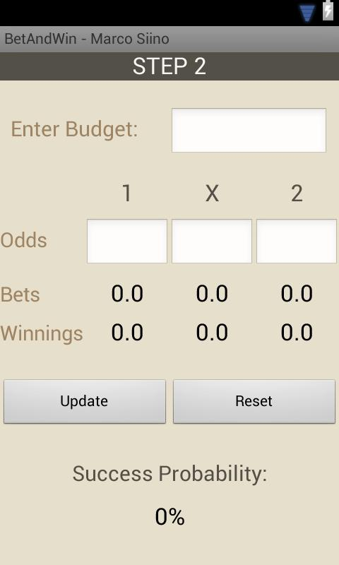 Betting - screenshot