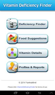 Vitamin Deficiency Finder