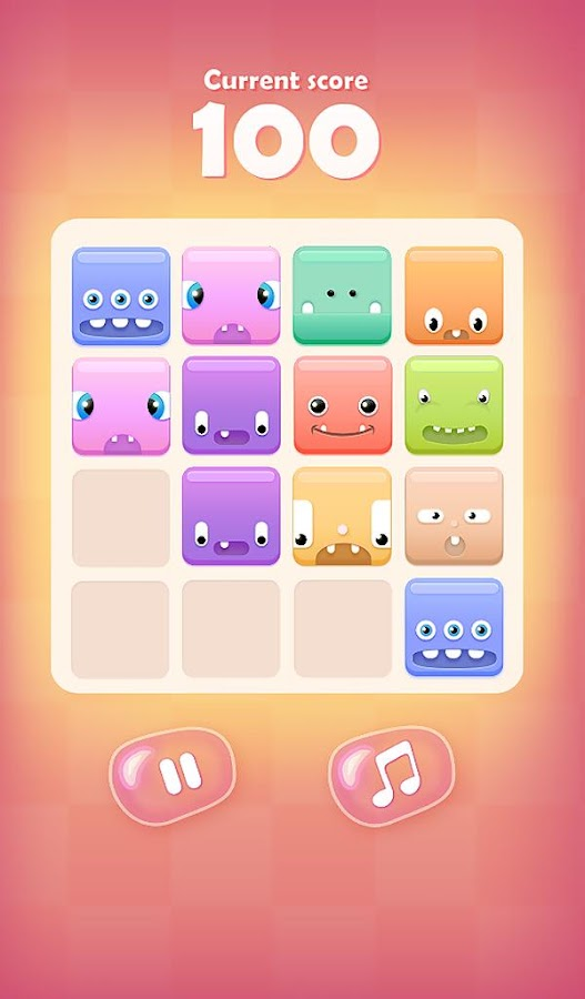 2048 Cute Monsters - screenshot