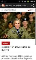 Screenshot of SIC Notícias