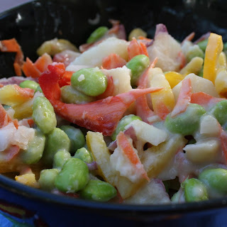 Rainbow Salad with Miso Dressing