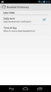Baseball Dictionary - screenshot thumbnail