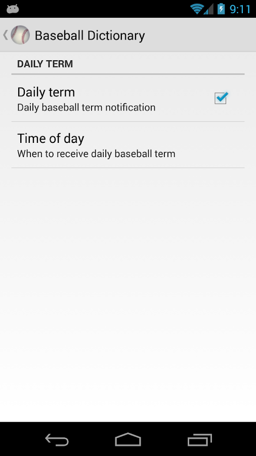 Baseball Dictionary - screenshot
