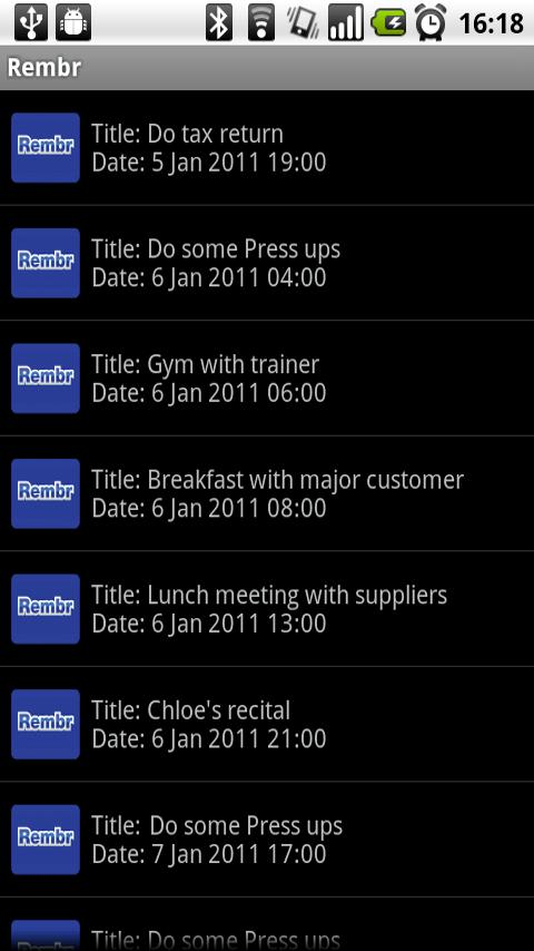 Rembr - Voice to Calendar- screenshot