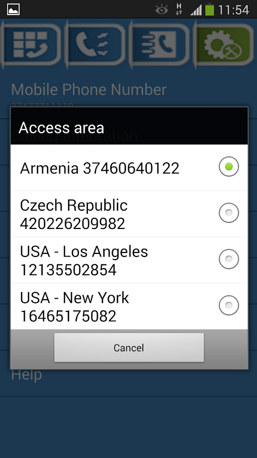TagCalls - International Calls - screenshot