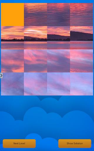 Sunset cloud puzzle