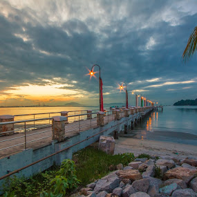 Jerejak beach Penang, Malaysia by Boon Chan Gee - Landscapes Beaches