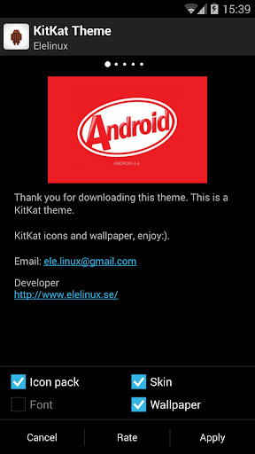Apex Launcher Theme KitKat