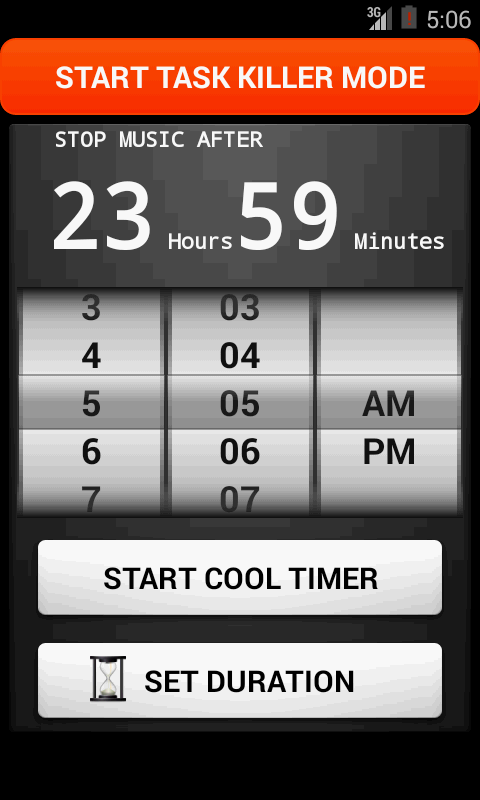 Cool timer : Stop music & task - screenshot