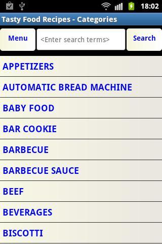 Tasty Food Recipes- screenshot