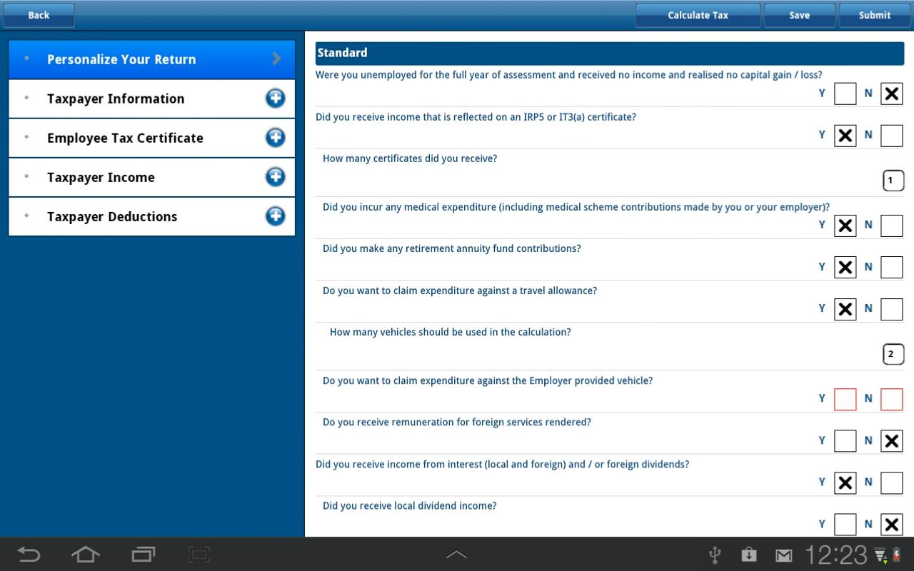 SARS Mobile eFiling- screenshot