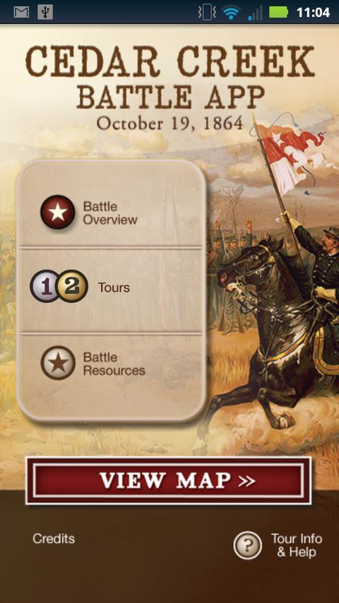 Cedar Creek Battle App- screenshot