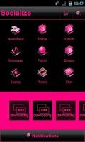 Screenshot of Pink Socialize for Facebook
