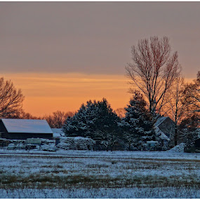Winter evening by Doreen L - Landscapes Weather (  )