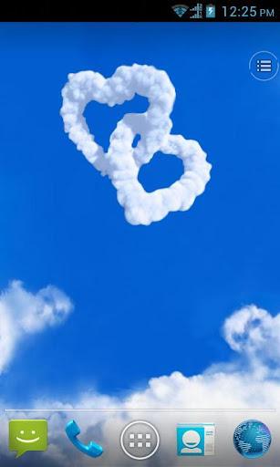 Love in Sky live wallpaper