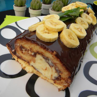 Swiss Roll with Nutella, Mascarpone and Bananas.
