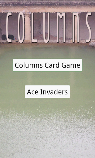 Columns of Cards Games