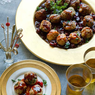 Gluten Free Turkey Meatballs with Orange Cranberry Gravy