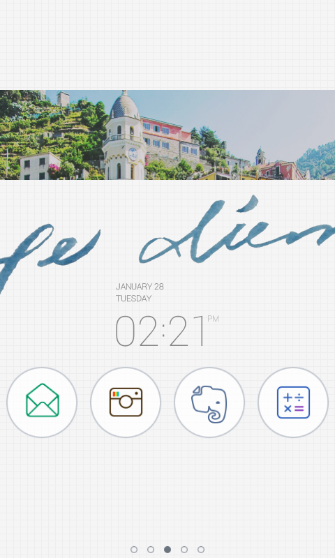 Carpe diem dodol theme - screenshot