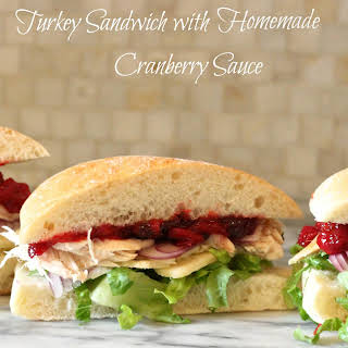 The Turkey and Cranberry Sauce Sandwich.