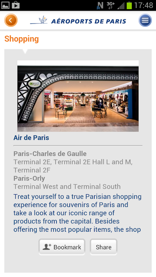 My Airport–Aeroports de Paris - screenshot