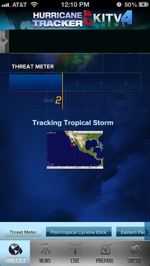 Hurricane Tracker KITV - screenshot