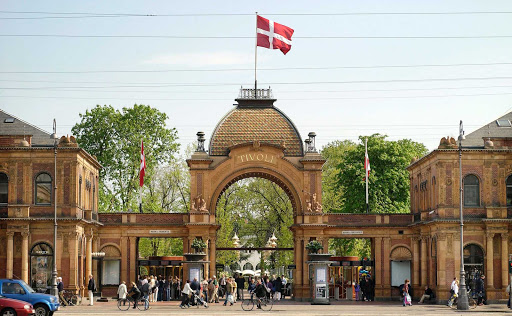Tivoli Arch at the entrance to Tivoli Gardens in Copenhagen.