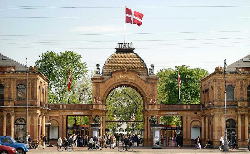 Tivoli Arch at the entrance to Tivoli Gardens in Copenhagen.