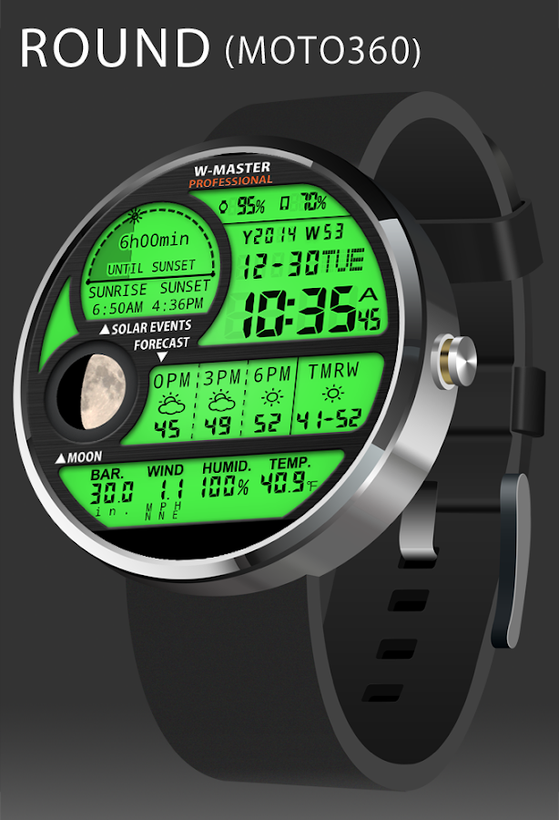 F04 WatchFace for Android Wear- screenshot