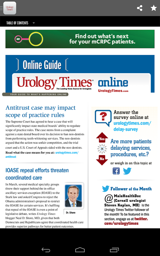 Urology Times- screenshot