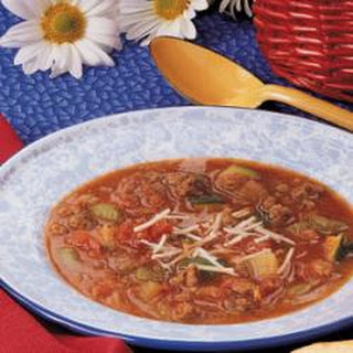 Zucchini Beef Soup