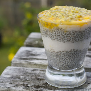 Tropical Coconut and Passionfruit Chia Pudding