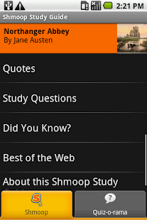 Northanger Abbey: Shmoop Guide - screenshot thumbnail