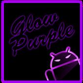 GOKeyboard Theme Glow Purple