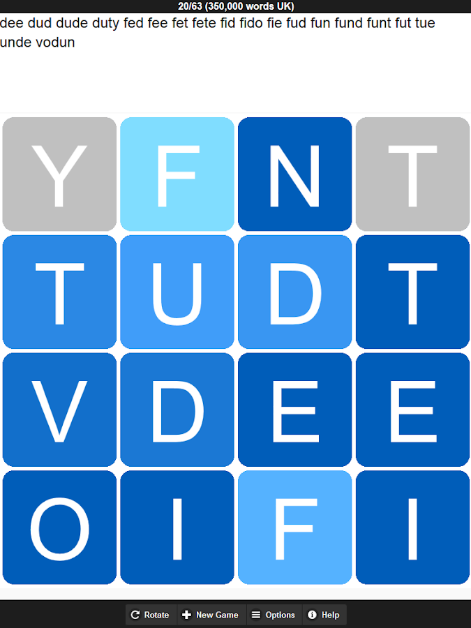 WordEke Innovative Word Game- screenshot