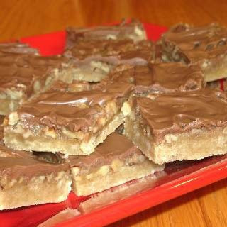 Caramel and Chocolate Pecan Bars