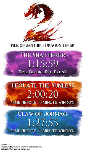 Guild Wars 2 Dragon Timer