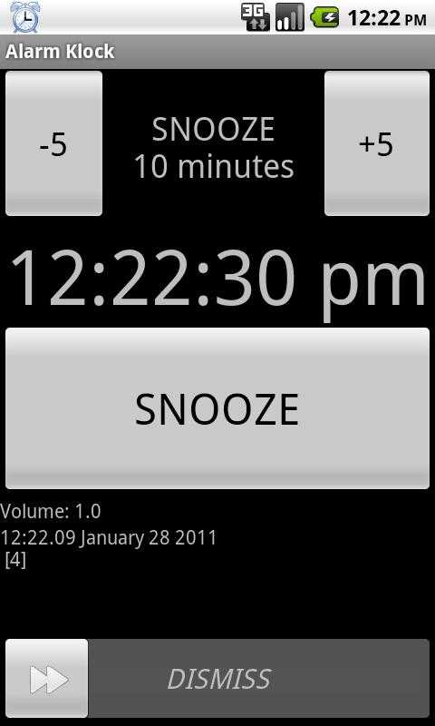 Alarm Klock - screenshot