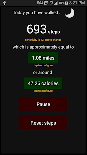 Hans's Pedometer- screenshot thumbnail
