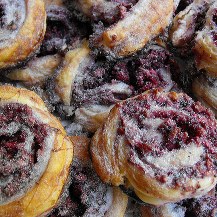 Sweet Apple Puffs with Blueberry Jam Recipe