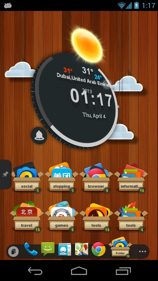 TSF Clock Widget - screenshot