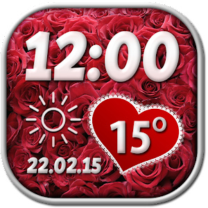 Valentine's Day Weather Widget