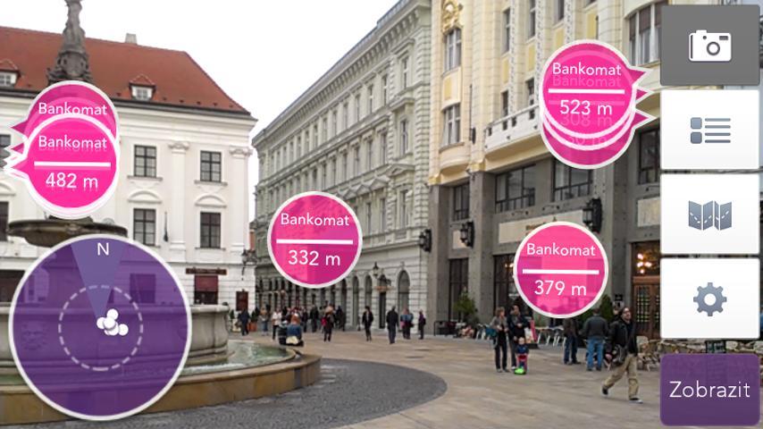 Bankomaty, pobočky a pošty SK - screenshot