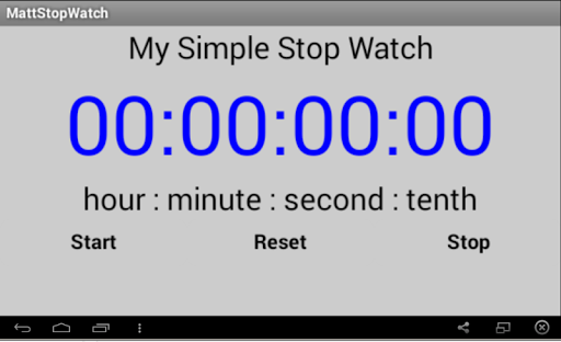 Simple Stop Watch